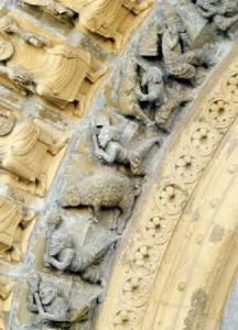 Porche de la Cathédrale d'Oloron sculptée en 1120
