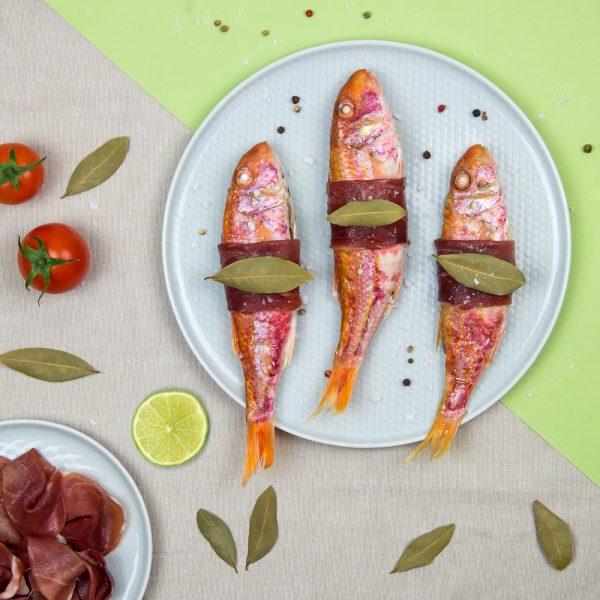 Recette jambon de bayonne, rougets, Jambon de Bayonne, poisson