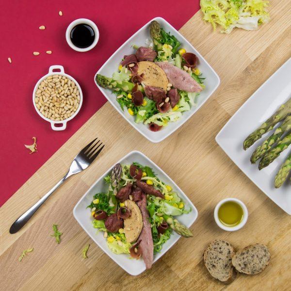 Recette jambon de bayonne, salade landaise, Jambon de Bayonne