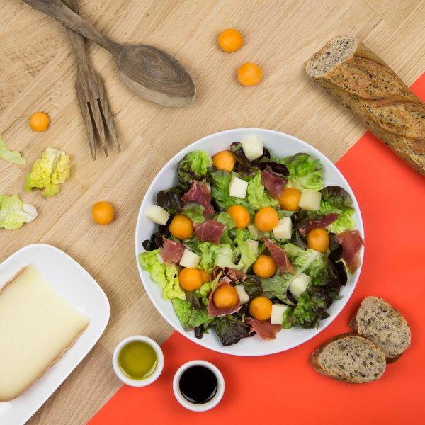 Recette jambon de bayonne, Salade melon, Salade jambon de Bayonne