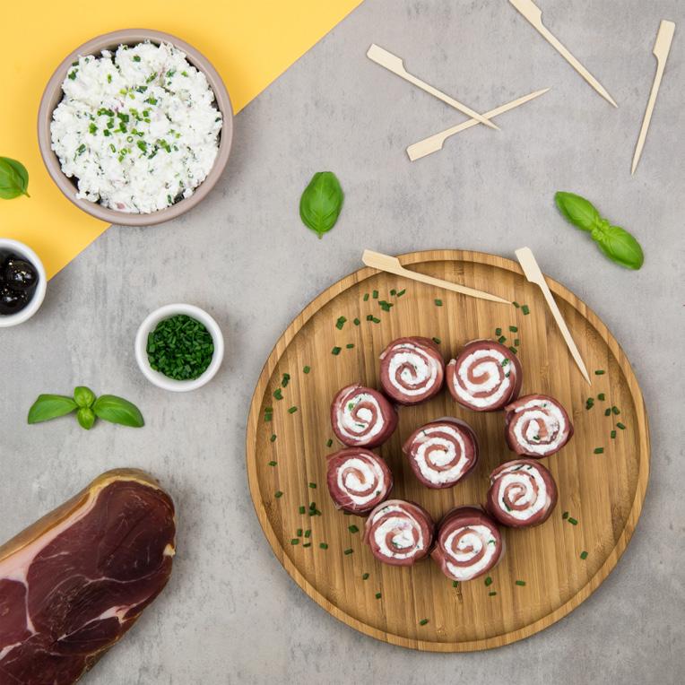 Recette jambon de bayonne, roulés jambon de Bayonne, apéritif jambon, Jambon de Bayonne